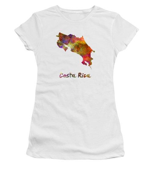 Costa Rica In Watercolor Women's T-Shirt