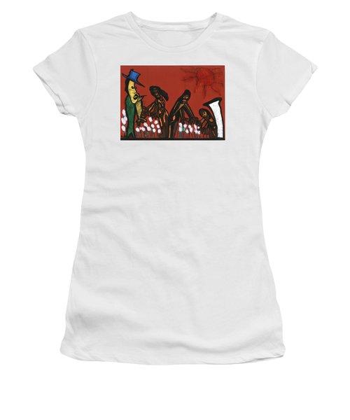Cotton Pickers Women's T-Shirt (Junior Cut) by Darrell Black