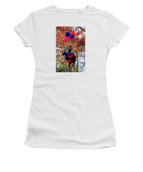 Coulrophobia Women's T-Shirt (Junior Cut) by Paul Mashburn