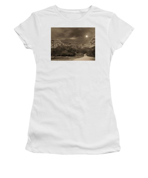 Women's T-Shirt (Junior Cut) featuring the photograph Country Moonlight by Beto Machado