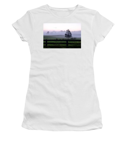 Country Morning Fog Women's T-Shirt (Athletic Fit)