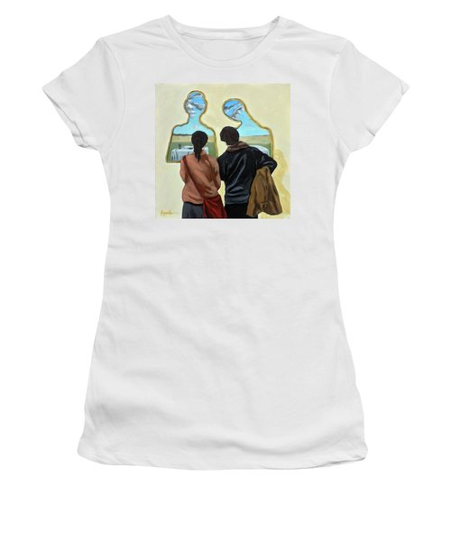 Couple With Their Heads Full Of Clouds Women's T-Shirt
