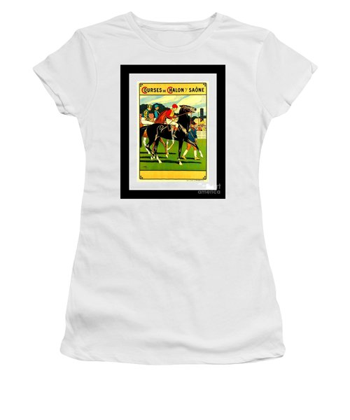 Courses De Chalon French Horse Racing 1911 II Leon Gambey Women's T-Shirt (Athletic Fit)