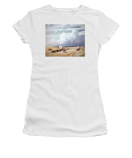 Covered Wagons Heading West Women's T-Shirt