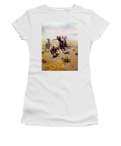 Cowboy Roping A Steer Women's T-Shirt