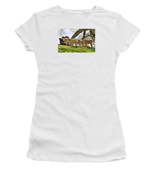 Cows Under Oak #2 Women's T-Shirt (Athletic Fit)