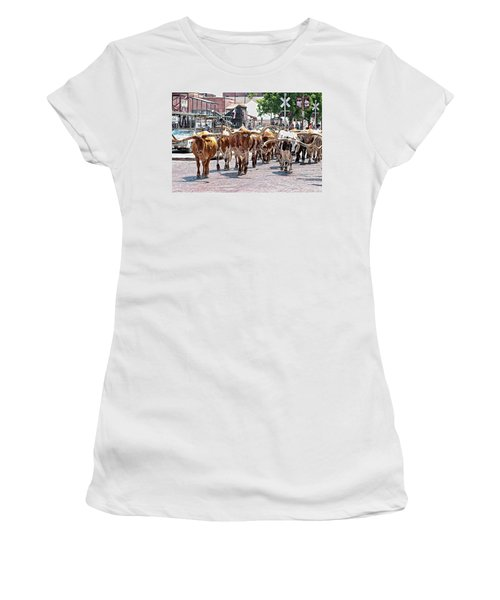Cowtown Stockyards Women's T-Shirt (Athletic Fit)