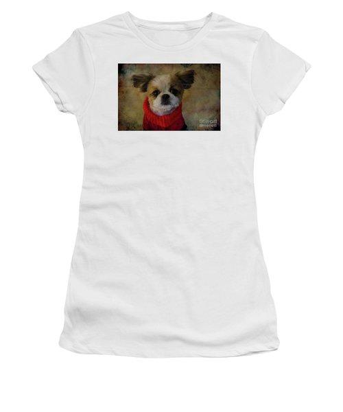 Cozy Sadie Women's T-Shirt (Junior Cut) by Al Bourassa