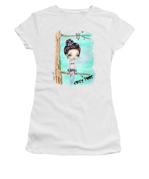 Cozy Toes Women's T-Shirt (Athletic Fit)