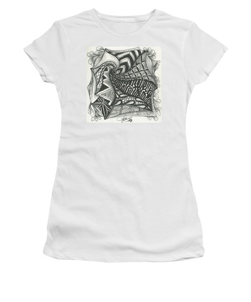 Crazy Spiral Women's T-Shirt (Junior Cut) by Jan Steinle