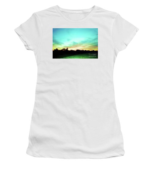 Women's T-Shirt (Junior Cut) featuring the photograph Creator's Sky Painting by Polly Peacock