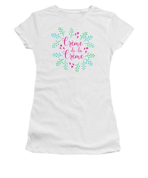 Creme De La Creme Pink Hearts Women's T-Shirt