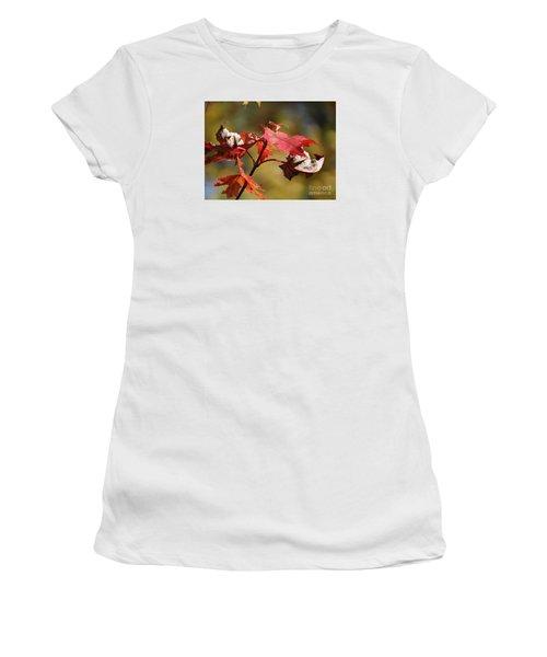 Crimson Fall Women's T-Shirt (Junior Cut) by J L Zarek