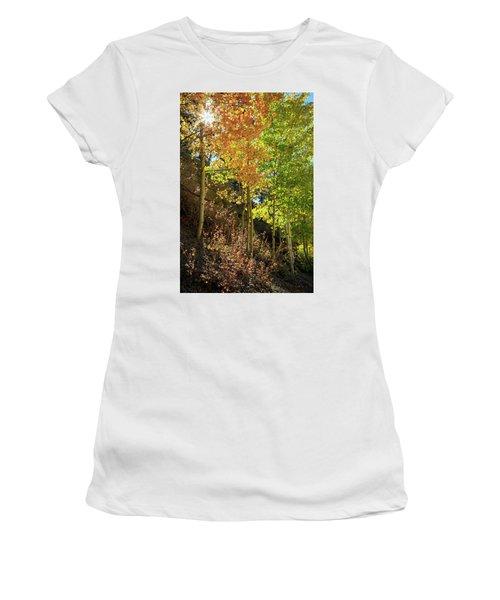 Women's T-Shirt (Junior Cut) featuring the photograph Crisp by David Chandler