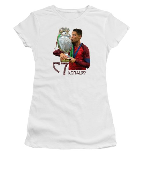 Cristiano Ronaldo Women's T-Shirt (Junior Cut) by Armaan Sandhu
