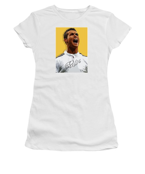 Cristiano Ronaldo Cr7 Women's T-Shirt (Junior Cut) by Semih Yurdabak