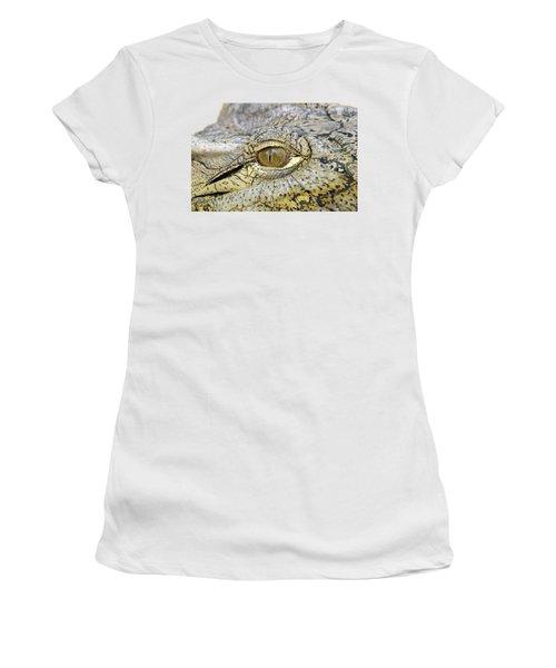 Crocodile Eye Women's T-Shirt (Junior Cut) by George Atsametakis