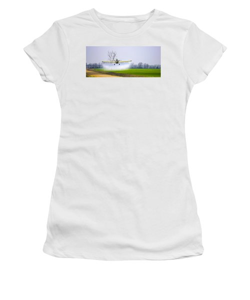Precision Flying - Crop Dusting 1 Of 2 Women's T-Shirt (Athletic Fit)