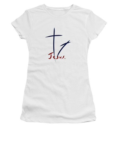 Cross And Shadow Women's T-Shirt (Athletic Fit)