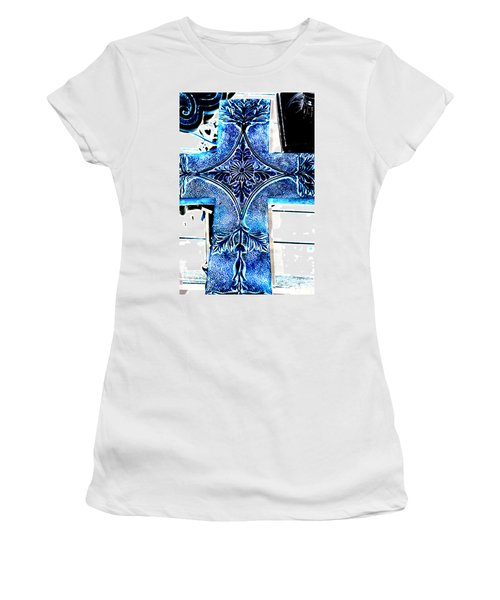 Cross In Blue Women's T-Shirt