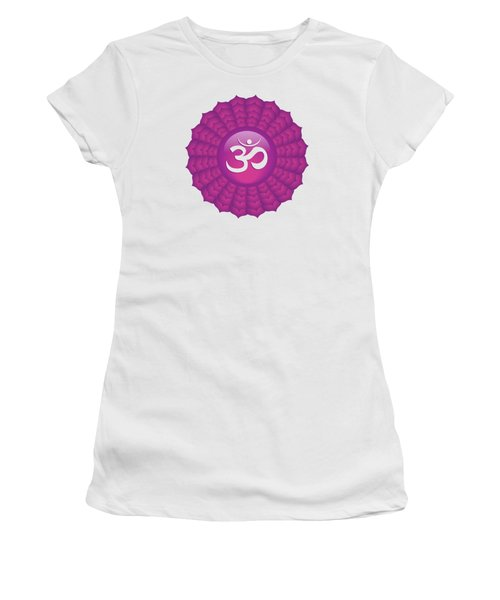 Crown Chakra Women's T-Shirt (Junior Cut) by Serena King