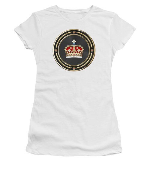 Crown Of Scotland Over White Leather  Women's T-Shirt