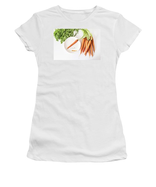 Women's T-Shirt (Athletic Fit) featuring the photograph Crunch by Kim Hojnacki