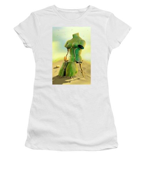 Crutches 2 Women's T-Shirt (Junior Cut) by Mike McGlothlen