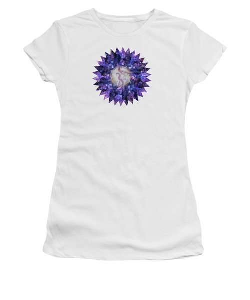 Crystal Magic Mandala Women's T-Shirt (Junior Cut) by Leanne Seymour