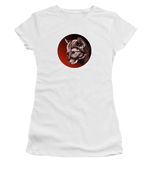 Women's T-Shirt (Junior Cut) featuring the drawing Cub by Terry Frederick