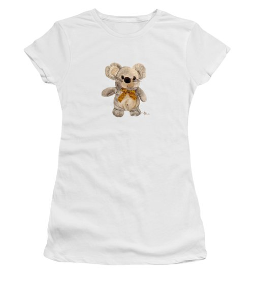 Cuddly Mouse Women's T-Shirt (Junior Cut) by Angeles M Pomata