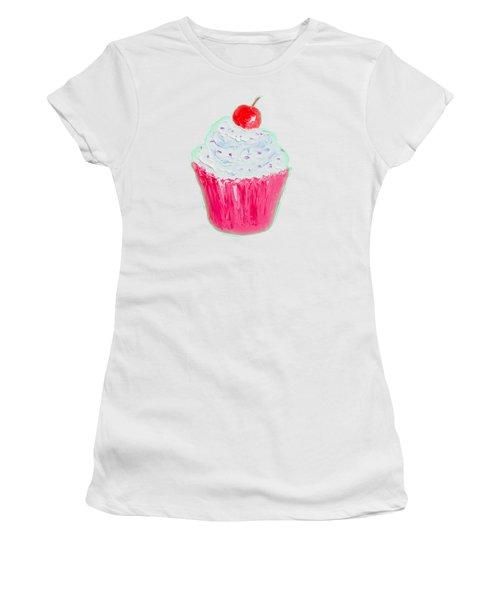 Cupcake Painting Women's T-Shirt (Junior Cut) by Jan Matson