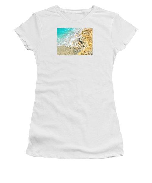 The Sea Below Women's T-Shirt (Junior Cut) by Expressionistart studio Priscilla Batzell