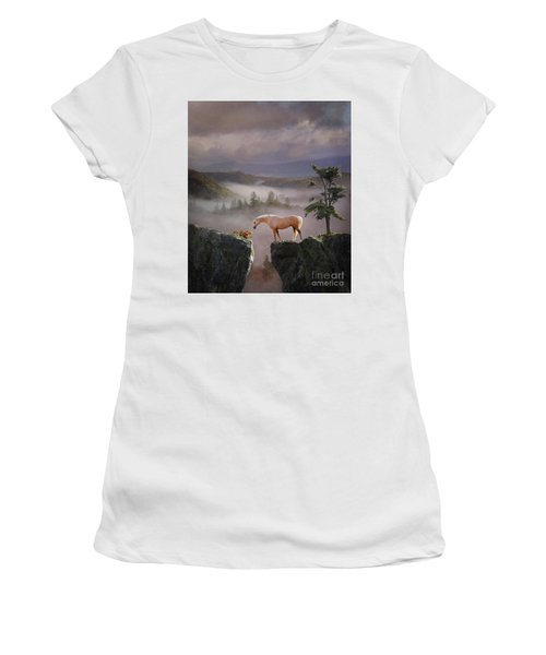 Women's T-Shirt (Athletic Fit) featuring the photograph Curiosity by Melinda Hughes-Berland