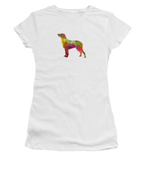 Curly Coated Retriever In Watercolor Women's T-Shirt