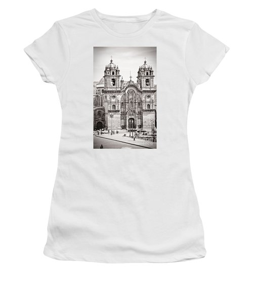 Cusco Cathedral Women's T-Shirt (Junior Cut) by Darcy Michaelchuk