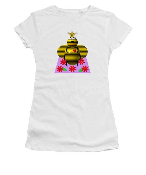 Cute Queen Bee On A Quilt Women's T-Shirt