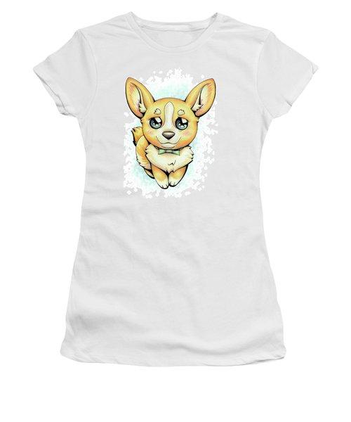 Cutie Corgi Women's T-Shirt (Athletic Fit)