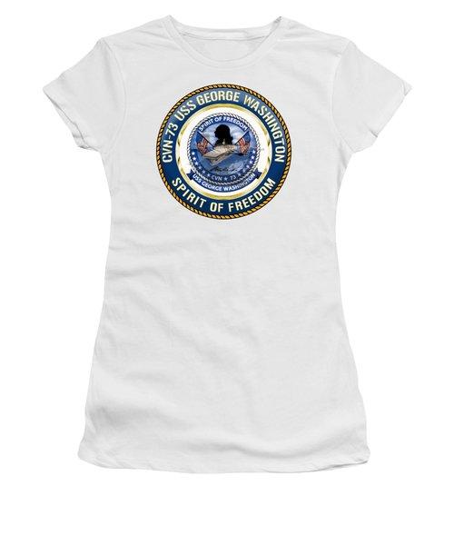 Cvn-73 Uss George Washington Women's T-Shirt (Athletic Fit)