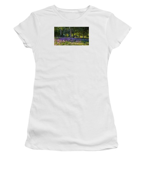 Cyclamen Under Trees Women's T-Shirt (Athletic Fit)
