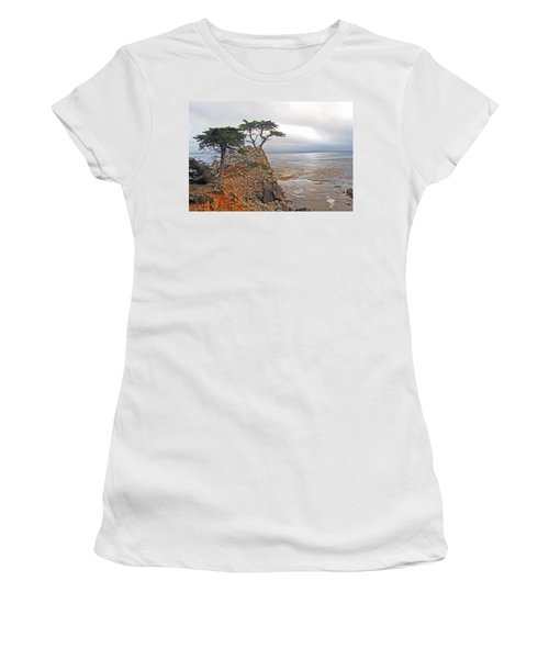 Cypress Tree At Pebble Beach Women's T-Shirt