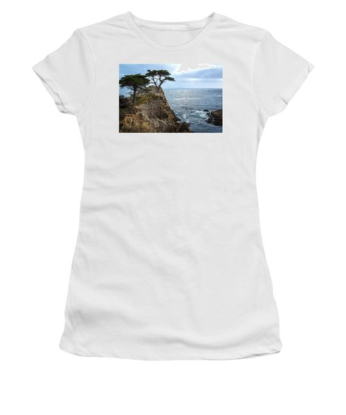 Cypress Tree On The Point Women's T-Shirt (Athletic Fit)