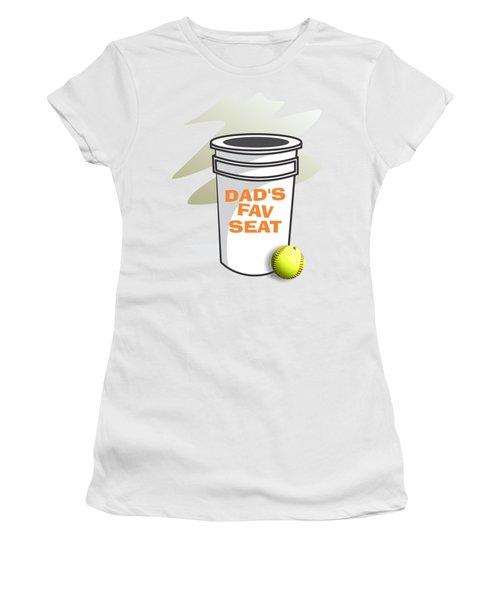 Dad's Fav Seat Women's T-Shirt (Junior Cut) by Jerry Watkins