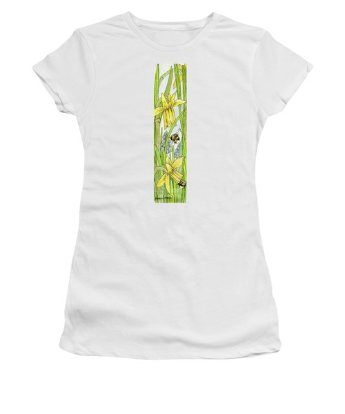 Daffodils And Bees Women's T-Shirt