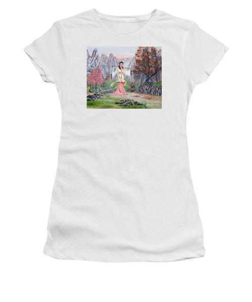 Dai Yuu Women's T-Shirt (Junior Cut) by Anthony Lyon