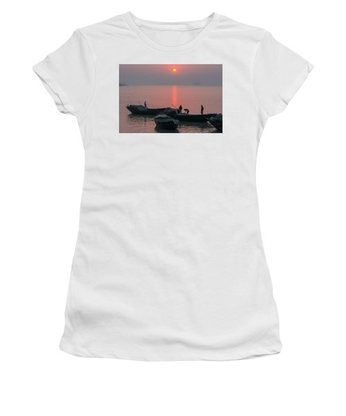 Daily Chores On The River Women's T-Shirt (Athletic Fit)
