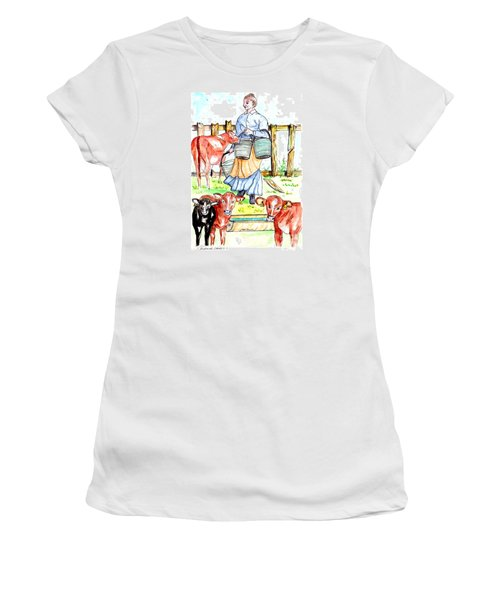 Daily Chores Women's T-Shirt (Junior Cut) by Philip Bracco