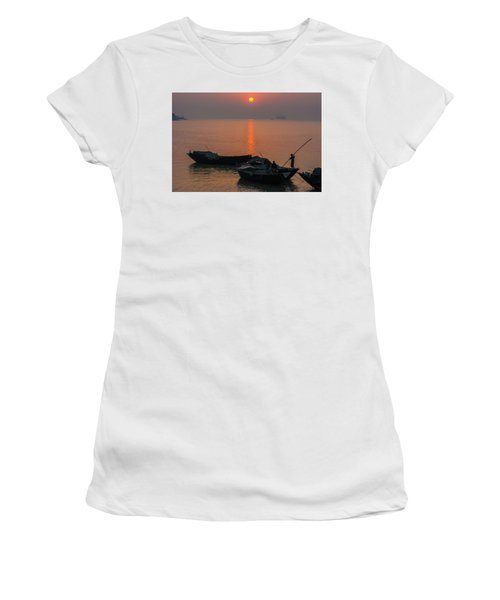 Daily Life Of Boatman Women's T-Shirt (Athletic Fit)