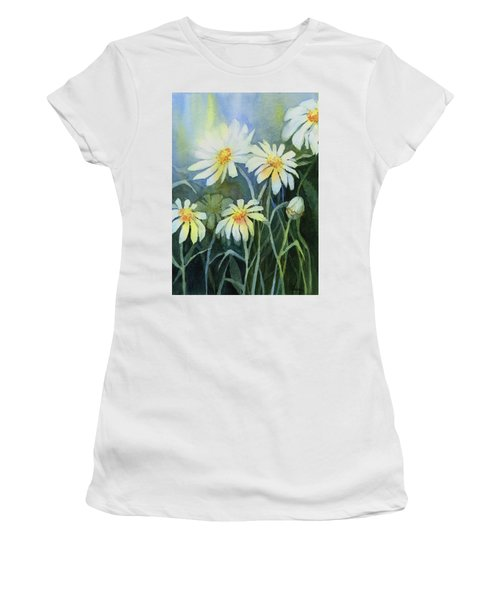 Daisies Flowers  Women's T-Shirt (Athletic Fit)