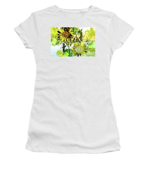 Sunflower On Water Women's T-Shirt (Junior Cut) by Deborah Nakano